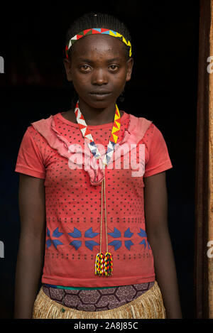 Ari girl, she is one of from the indigenous tribe called Ari OMO valley, she is a student. - Stock Photo