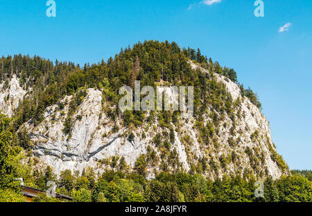 Mountains in the Austrian Alps on a sunny day - Stock Photo