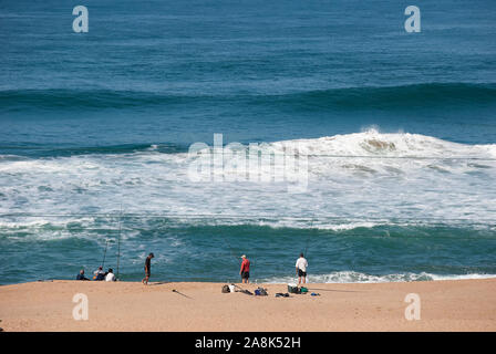 A beach south of Durban in KwaZulu Natal province in South Africa - Stock Photo