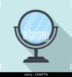 Cosmetic mirror icon. Flat illustration of cosmetic mirror vector icon for web design - Stock Photo