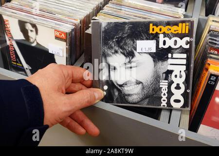CD studio album: Andrea Bocelli – Bocelli - Stock Photo