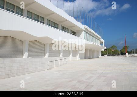 The new cinema Palace on the Island Lido di Venezia, Venice. Located  on Lungomare Marconi. It opened in 2019. Italy, South Europe. - Stock Photo