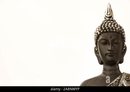 Buddha statue on color background - Stock Photo
