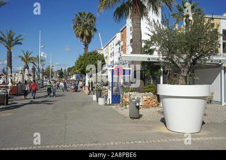 Europa, Portugal, Algarve, Vilamoura, Maritim, Hafen,  Strand, Meer, Atlantik - Stock Photo