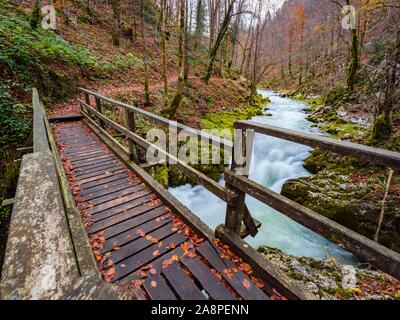 Autumn Fall season in Kamacnik near Vrbovsko in Croatia - Stock Photo