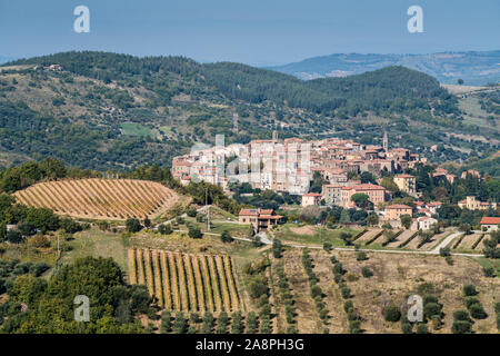 General view of the Seggiano, Tuscany, Italy, Europe. - Stock Photo
