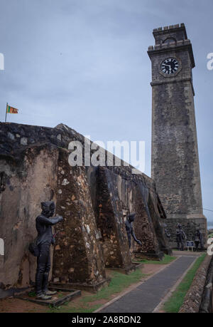 GALLE, SRI LANKA - AUGUST 10, 2019:  The best city of south of Sri Lanka, It's Galle city view from the wall fort,  The scenic view of the relaxing, - Stock Photo