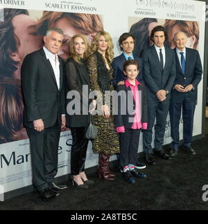 New York, United States. 10th Nov, 2019. Cast and crew attend premiere of Marriage Story at Paris Theater (Photo by Lev Radin/Pacific Press) Credit: Pacific Press Agency/Alamy Live News - Stock Photo