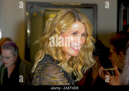 New York, United States. 11th Nov, 2019. Laura Dern attends the Marriage Story Premiere at Paris Theater in New York City. Credit: SOPA Images Limited/Alamy Live News - Stock Photo