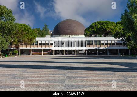 Lisbon, Portugal. Planetario de Lisboa Planetarium aka Calouste Gulbenkian Planetarium Astronomy science and universe education. Belem District - Stock Photo