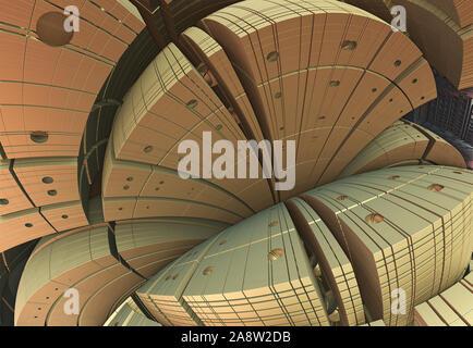 Abstract artwork - 3d illustration, organic geometric shapes.