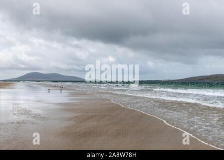 A rainy day at Traigh Rosamol on the Hebridean Isle of Harris