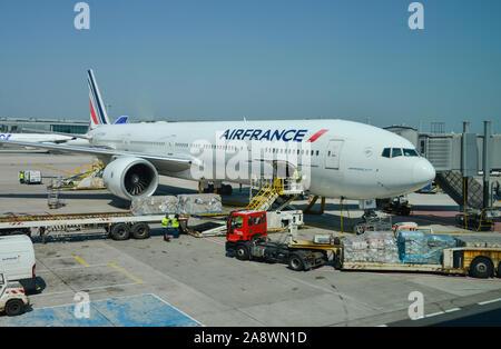 Flugzeug Air France, Flughafen Charles de Gaulle, Paris, Frankreich - Stock Photo