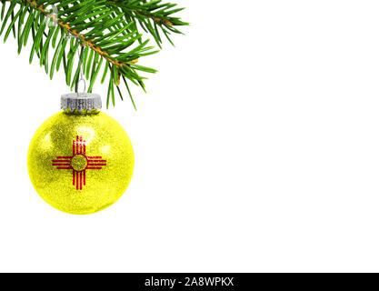 Flag of Mexico Glass Ball Christmas Ornament