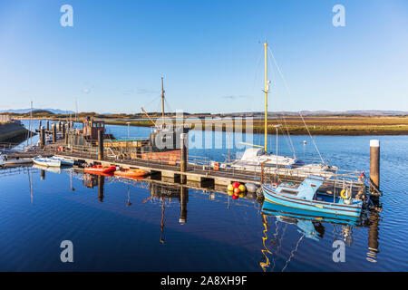 Irvine harbour, on the Firth of Clyde and River Irvine Ayrshire, Scotland, UK - Stock Photo