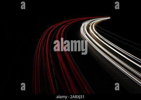 Light Trails on the Freeway