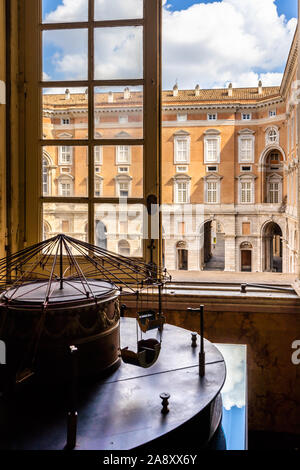 A window at the royal apartments of the Royal Palace of Caserta, Campania, Italy - Stock Photo