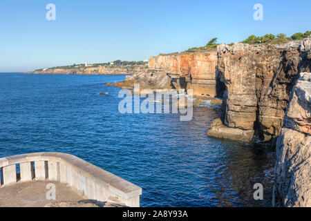 Boca do Inferno, Cascais, Lisbon, Portugal, Europe - Stock Photo