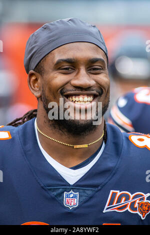 Chicago, Illinois, USA. 10th Nov, 2019. - Bears #84 Cordarrelle Patterson on the sidelines during the NFL Game between the Detroit Lions and Chicago Bears at Soldier Field in Chicago, IL. Photographer: Mike Wulf. Credit: csm/Alamy Live News - Stock Photo