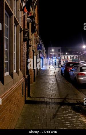 Night shot of Market Street in Trim County Meath Ireland - Stock Photo