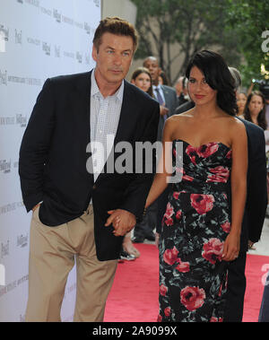 Manhattan, United States Of America. 21st June, 2012. NEW YORK, NY - JUNE 20: Alec Baldwin_Hilaria Thomas attends The Cinema Society With The Hollywood Reporter & Piaget And Disaronno screening Of 'To Rome With Love at the Paris Theatre on June 20, 2012 in New York City People: Alec Baldwin_Hilaria Thomas Credit: Storms Media Group/Alamy Live News - Stock Photo