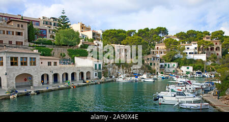Cala Figuera, idyllic fishing village at South-West of Mallorca, Balearic islands, Spain - Stock Photo