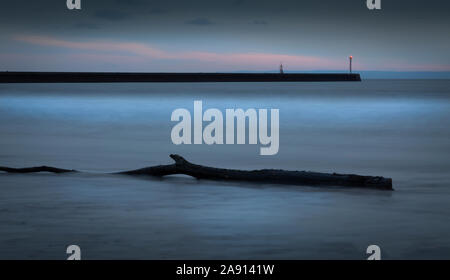 Blue hour at the West Pier - Stock Photo