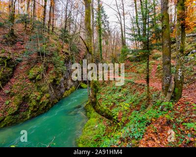 Kamacnik canyon near Vrbovsko in Croatia Europe - Stock Photo