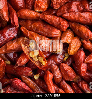 Dried red chilies - Stock Photo