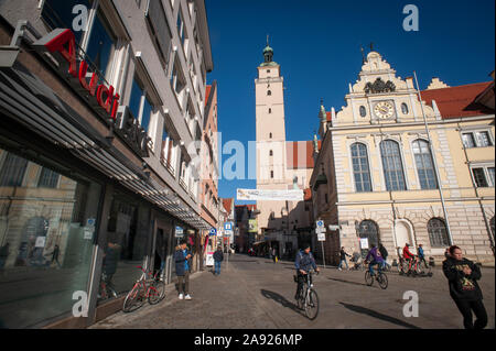 Ingolstadt, Bavaria, Germany. - Stock Photo