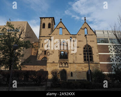 Ruins of Alt St Alban old romanesque church bombed during wwii in Koeln, Germany - Stock Photo