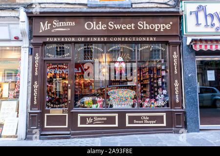 Olde Sweet Shoppe Bath, Sweet shop, Westgate St, Somerset, England, UK - Stock Photo