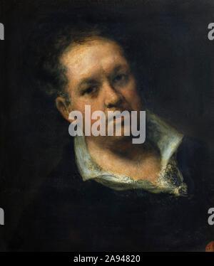 Francisco de Goya self-portrait 1815 painted by Francisco Goya (1746–1828) Spanish romantic painter and master portraitist. - Stock Photo