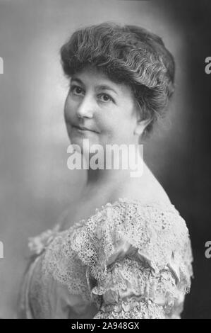 Ellen Axson Wilson (1860-1914), First Wife of U.S. President Woodrow Wilson, who died in the second year of Wilson's Presidency, Head and Shoulders Portrait, Bain News Service, 1911 - Stock Photo