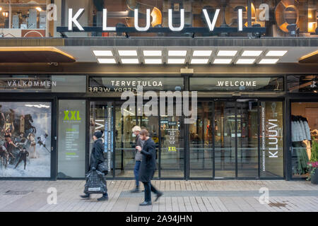Kluuvi Shopping Mall at Aleksanterinkatu Street in Helsinki Finland - Stock Photo