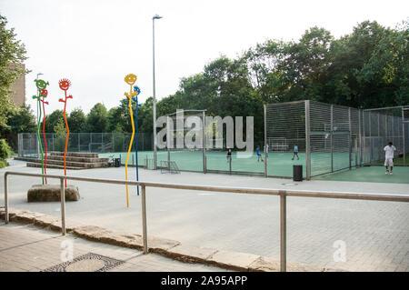 Fußballplatz, Bolzplatz - Stock Photo