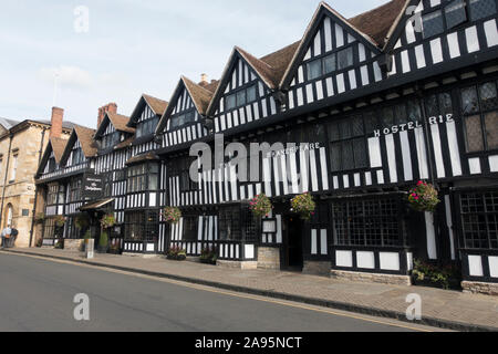 Mercure Shakespeare Hotel, High Street, Tudor 16th century half-timbered buildings in Stratford-upon-Avon High Street, Warwickshire, UK - Stock Photo