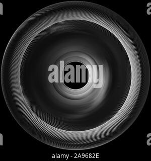 Metallic Reflection. Silver 3D Abstract metal background - Stock Photo