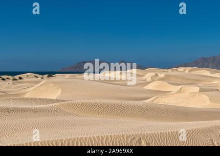 desert sand dunes at sunset view in Baja California Sur Mexico - Stock Photo