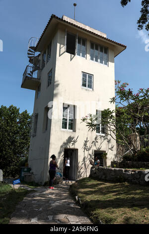 The Lookout Tower, giving commanding views at the American author, Ernest Hemingway's home, Finca La Vigia, in San Francisco de Paula, southeast of Ha - Stock Photo