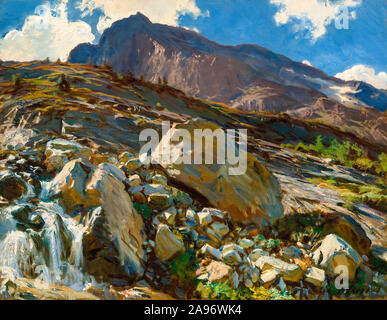 John Singer Sargent, Simplon Pass, landscape painting, 1911 - Stock Photo