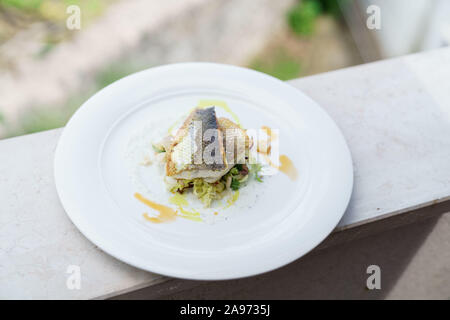 plate of fish - Stock Photo