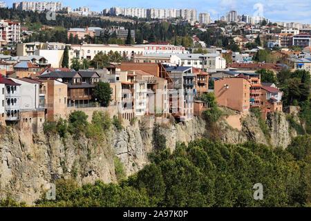 Old Town of Tiflis, Tbilisi, Georgia - Stock Photo