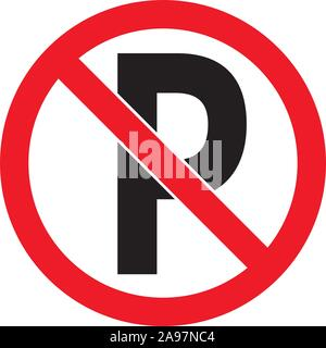 Red Prohibition stop sign, Red circle warning and no entry or access  with symbol, simply vector graphic illustration, isolated on white background wi - Stock Photo