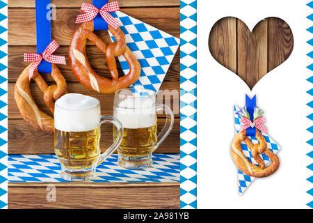 Oktoberfest background - Stock Photo