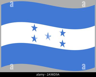 National flag of Republic of Honduras. original colors and proportion. Simply vector illustration, from countries flag set. - Stock Photo