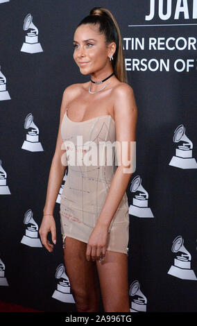 Las Vegas, United States. 13th Nov, 2019. Singer Cami arrives for the Latin Grammy Person of the Year gala honoring Columbian singer Juanes at the MGM Grand Convention Center in Las Vegas, Nevada on Wednesday, November 13, 2019. Photo by Jim Ruymen/UPI Credit: UPI/Alamy Live News - Stock Photo