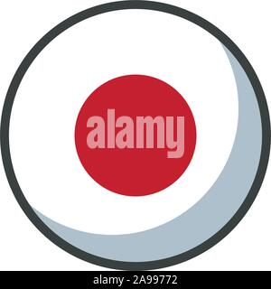 Japan flag design, country national state patriotism united world and international theme Vector illustration - Stock Photo