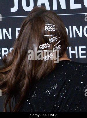 Las Vegas, United States. 13th Nov, 2019. Thalia Mottola arrives for the Latin Grammy Person of the Year gala honoring Columbian singer Juanes at the MGM Grand Convention Center in Las Vegas, Nevada on Wednesday, November 13, 2019. Photo by Jim Ruymen/UPI Credit: UPI/Alamy Live News - Stock Photo