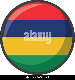 mauritius flag design, country national state patriotism united world and international theme Vector illustration - Stock Photo